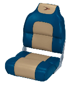 Wise Folding Boat Seat (Blue/Khaki)