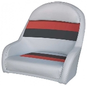 Wise Deluxe Bucket Captain's Chair (Light Grey/Red/Charcoal)