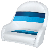 Wise Deluxe Bucket Captain's Chair (White/Navy/Blue)