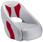 Attwood Avenir Sport Full Upholstered Seat (Grey/Red)