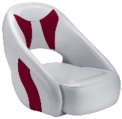 Attwood Avenir Sport Full Upholstered Seat (Grey/Burgundy)
