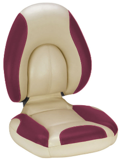 Attwood Centric Fully Upholstered Seat (Tan/Burgundy)