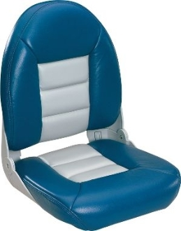 Tempress High-Back Navistyle Boat Seat (Blue/Grey)