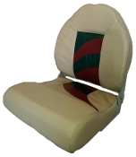 Wise High Back Boat Seat (Khaki/Red/Charcoal)