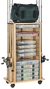 Organized Fishing Rolling Cabinet