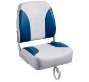Bass Pro Shops Tournament Pro Hi-Back Boat Seat (Grey/Blue)