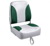 Bass Pro Shops Tournament Pro Hi-Back Boat Seat (Grey/Green)