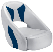 Attwood Avenir Sport Full Upholstered Seat (Grey/Blue)