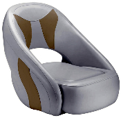 Attwood Avenir Sport Full Upholstered Seat (Grey/Tan)
