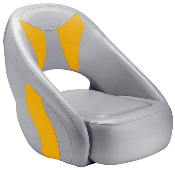 Attwood Avenir Sport Full Upholstered Seat (Grey/Yellow)