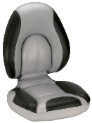 Attwood Centric Fully Upholstered Seat (Grey/Black)