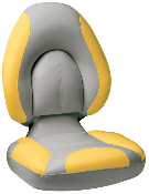 Attwood Centric Fully Upholstered Seat (Grey/Yellow)