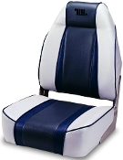 Wise Designer High Back Boat Seat (Grey/Navy/Charcoal)
